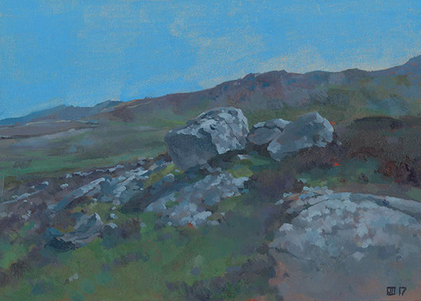Painting of Blue Stones, St David's Head, Pembrokeshire