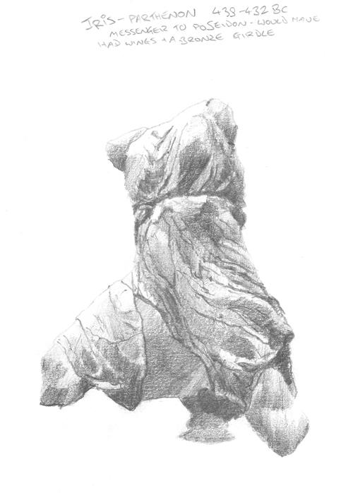 Iris; West Pediment of the Parthenon.