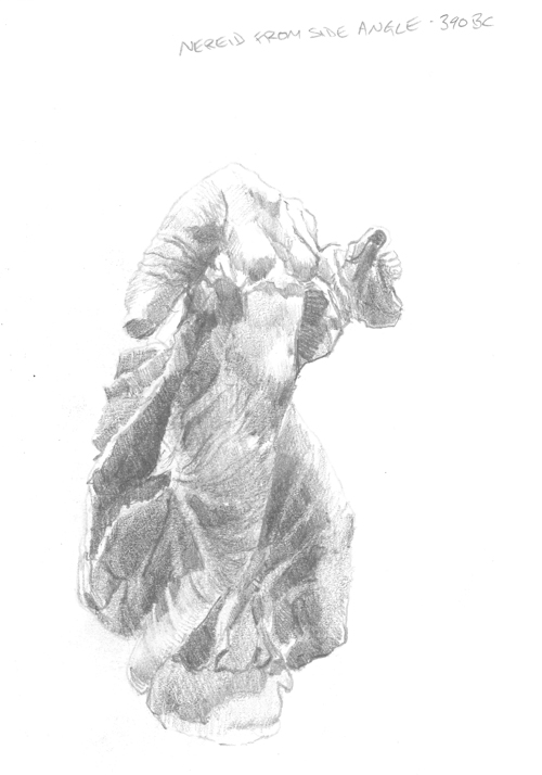 Nereid statue from the side