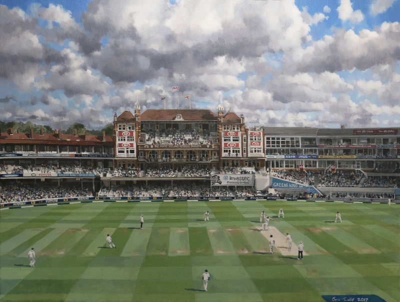 100th Test Match at The Oval, commemorative painting, 2017