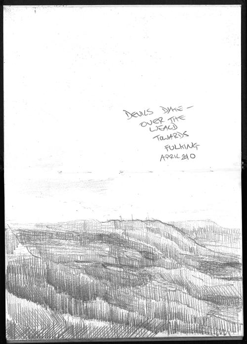 Sketch book view of Devils Dyke