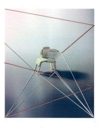 Roalind Davis. Lone. Thread on photograph. 10x14cm. 2015