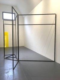 Rosalind Davis.Haus Konstructiv. No format Gallery. Steel & Perspex. Dimensions variable.V