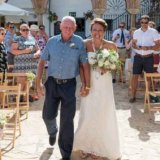 Father and Bride coming down the aisle