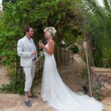 Bride and Groon enjoying a glass of Champagne