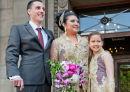 Bride, Groom and Bridesmaid