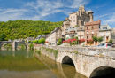 View of the Bridge in Estaing, near Rodez France (photo No1)