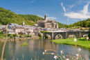 View of the Bridge in Estaing, near Rodez France