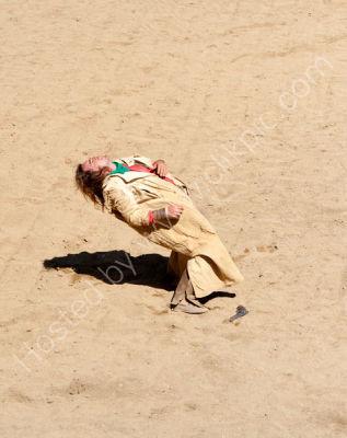Bandit shot in gunfight