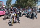 Jurgen leaving for ceremony with motorbike escort