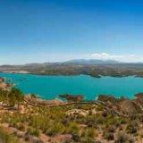 Panorama view of Lake Negratin near Baza