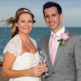 Bride and Groom next to the Mediterranean Sea at Mojacar