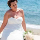 Bride next to the Mediterranean Sea