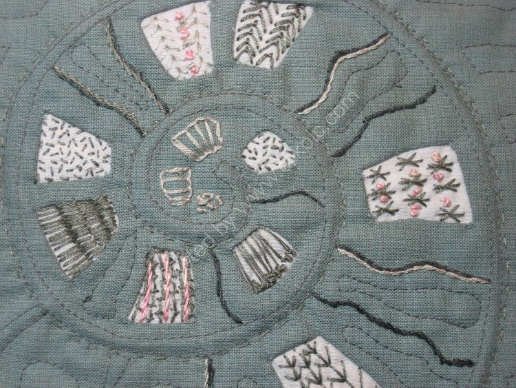 Ammonite embroidery