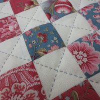 Handquilted cushion detail