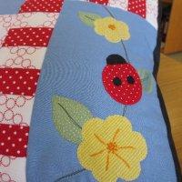 Ladybird Cushion detail