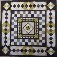 Medallion jellyroll quilt