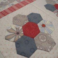 Sew A Row Quilt hexagons