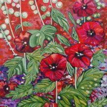 Courtyard Flowers Print