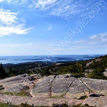 View of Acadia National Park from Cadillac Mountain