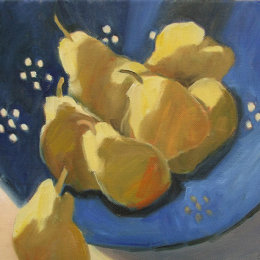 Blue Colander with Pears 3