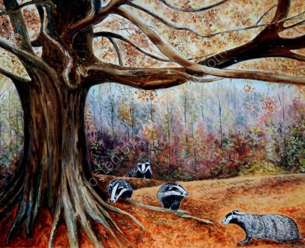 autumn badgers