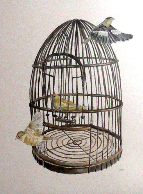 the vintage birdcage SOLD