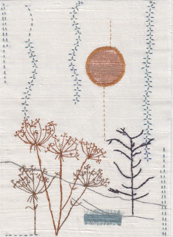 A Walk in the Black Mountains (Wabi Sabi textile)