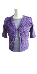 Designer machine knitted shrug using Viscose / linen yarn