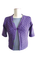 Designer machine knitted shrug using Viscose / linen yarn