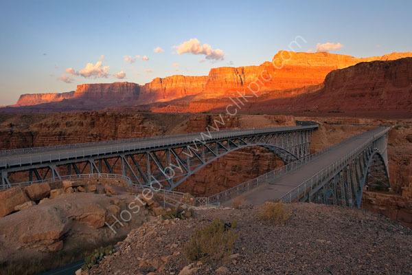 Navajo Bridges and Vermillion Cliffs.