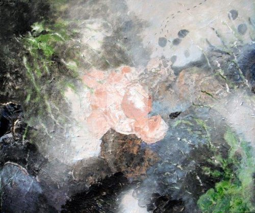 rock pool, impressionist, textural, landscape, marine artwork, seascape, ocean, art, contemporary