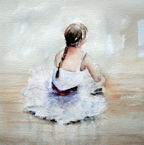 ballerina, ballet, children, cute, painting, classes, ballet exam, fine art, contemporary, watercolour, watercolor