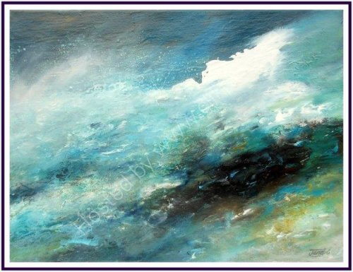 wave, contemporary, art, seascape, ocean, abstract, impressionist, textural