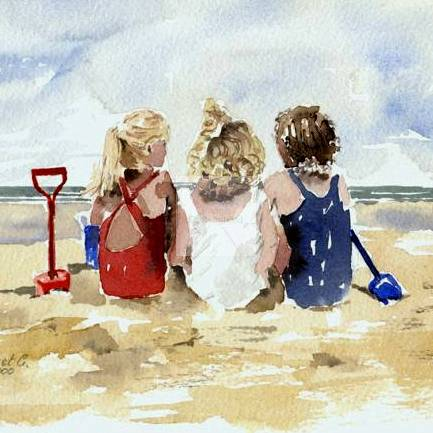 Three Little Girls SOLD