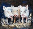 'Three Little Pigs' original watercolour
