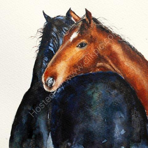 'Inseparable' original watercolour SOLD