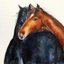 'Inseparable' original watercolour SOLD