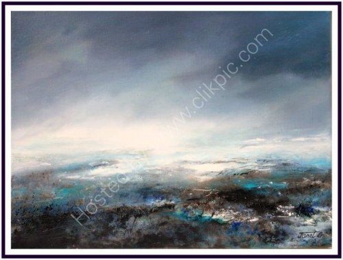 contemporary, moody seascape, atmospheric landscape, textural, abstract, art, impressionist