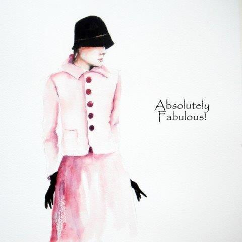 contemporary, art, birthday, card, greeting, women, female, fabulous