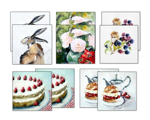greeting card, assorted designs, blank inside, bundle, card gift set, all occasions, art cards, selection of cards, thank you cards, notelets,