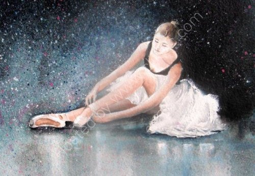 ballet shoes, slippers, ballerina, dancing, class, exam, school, girl, tutu, painting, contemporary, fine art, watercolour
