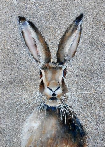 hare, watercolor, watercolour, art, wildlife, contemporary, art