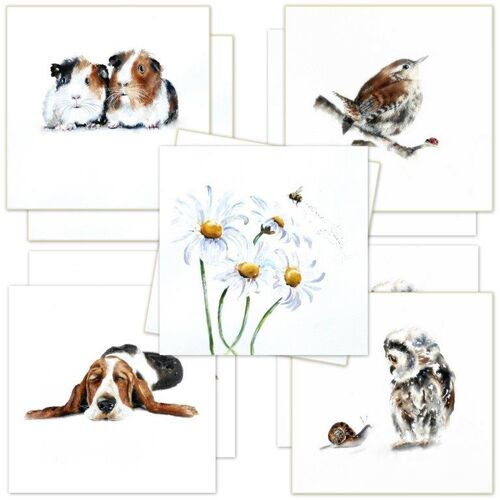 birthday cards, multi pack, thank you, gift, card for her, wife, mum, mother, dad, Greeting Card, art, love, friendship,rother,