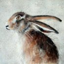 'Hare in the Wood' Greeting Card
