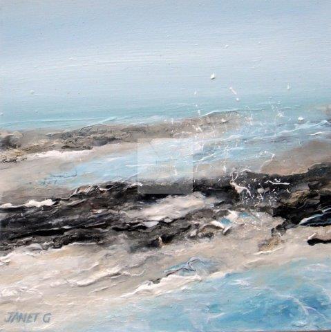 seascape, textural, contemporary, art, sea, textural, landscape, impressionist