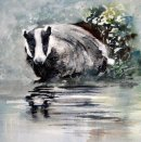 'The Badger' Greeting Card