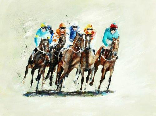 horse racing, club, jockey, jockies, horses, jumping, racecourse, sport, art, watercolour, print