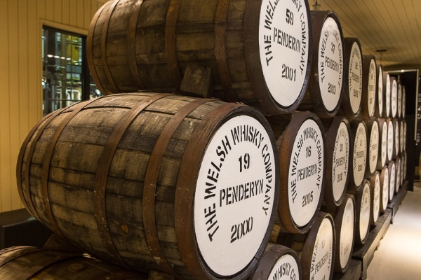 barrels of local whiskey