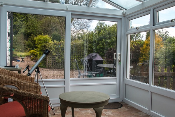 image of conservatory & view through window